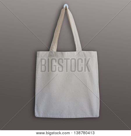 Blank cotton tote bag design mockup. Handmade shopping bags.
