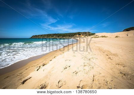 bolonia beach a coastal village in the municipality of Tarifa in the Province of Cadiz in southern Spain.