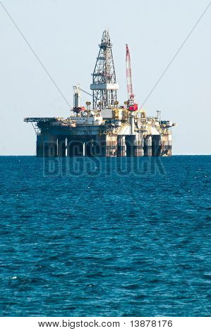 Sea Oil Rig Drilling Platform