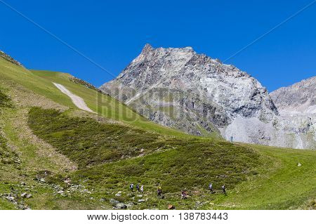 Hikers In The Austrian Alps, Editorial