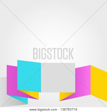 Abstract colorful square vector design on white