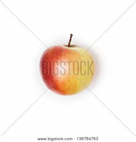 A Red Apple Isolated On White Background