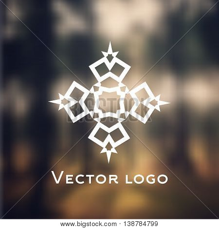 Vector abstract celtic icon. Logo isolated on blurred background. Brand identity. Web icon