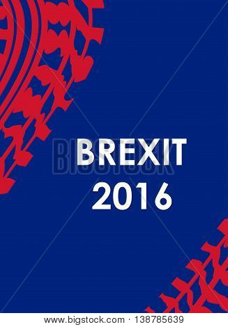 abstract brexit 2016 background with tire design