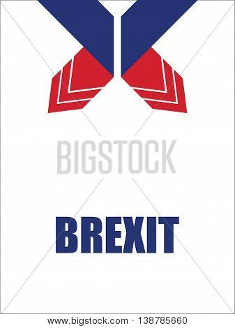 abstract origami design, special brexit banner, vector