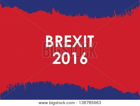 abstract brexit 2016 banner with special ripped paper design