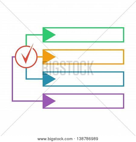 Option infographics for information statistics annual report notes. Banner for presentation. Vector illustration. Forms for text template.