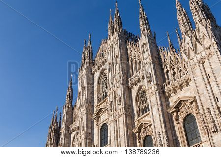 Duomo Cathedral of Milan Italy - roof detail spiers