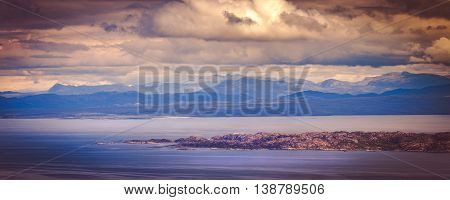 Panoramic View of Raasay Island from the Isle of Skye