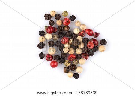 Heap Of Various Pepper