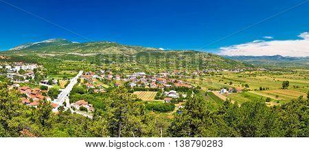 Pertovo polje near Drnis panoramic view inner Dalmatia Croatia