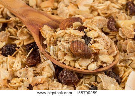 Breakfast Cereals In Spoon