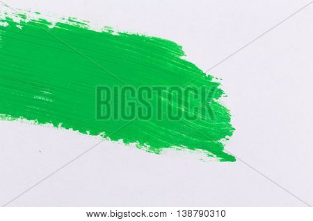 Green Stroke Of The Paint Brush