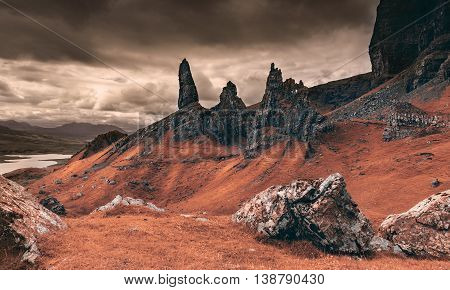 Rocky Martian Landscape on Earth - Summit of the Old Man of Storr