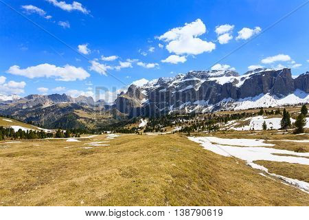 Italian Dolomites Landscape. Sella Group
