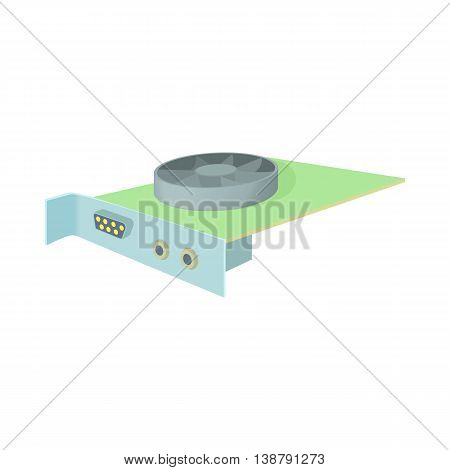 Video card icon in cartoon style isolated on white background. Technique symbol
