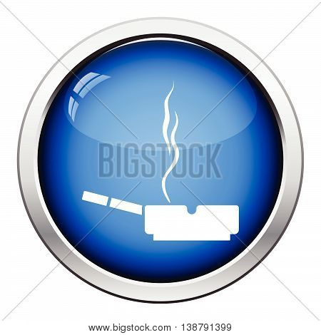 Cigarette In An Ashtray Icon