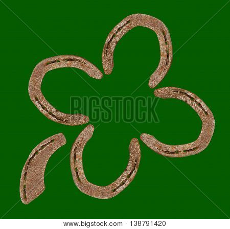 Horseshoes Forming A Clover Leaf