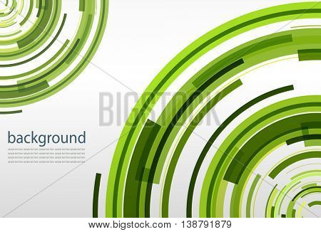 Abstract green background, vector illustration.