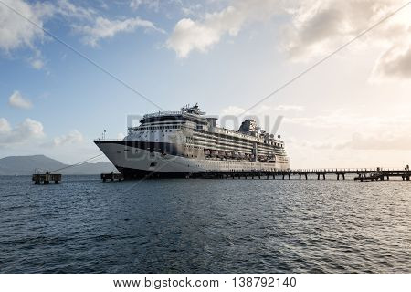 Fort-de-France (Martinique) 06 January 2016: The Celebrity Summit cruise ship docked in Fort-de-France Martinique