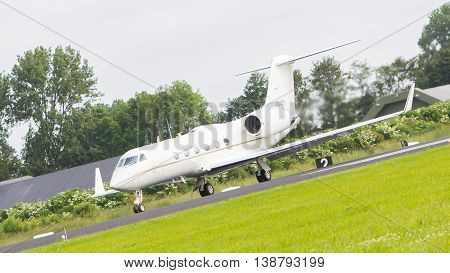 Leeuwarden, The Netherlands - June 10: Air Force Gulfstream Aerospace C-20H Gulfstream Iv During The