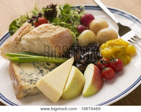 Stilton and Mature Cheddar Ploughman's