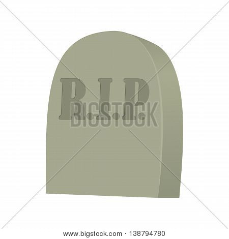 Monument on grave icon in cartoon style isolated on white background. Funeral symbol