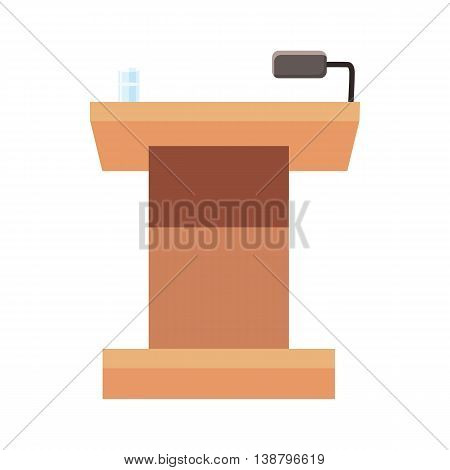 Tribune for speech icon in cartoon style isolated on white background