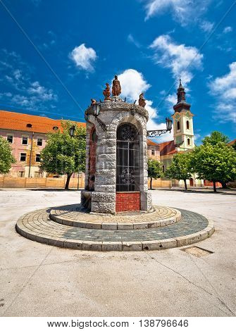 Town of Karlovac central square view central Croatia