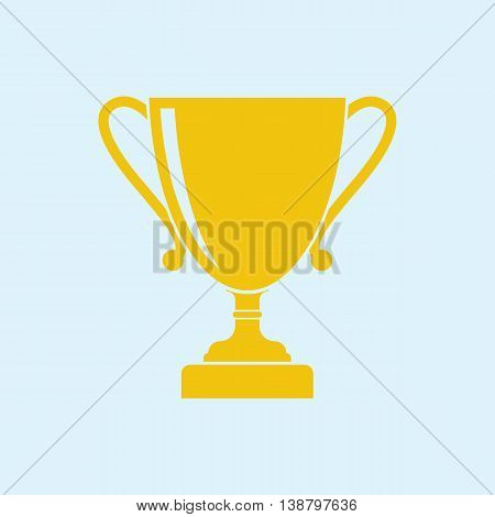 Winner cup icon vector. Concept winning victory. Champion award. Gold cup symbol of victory success achievement.