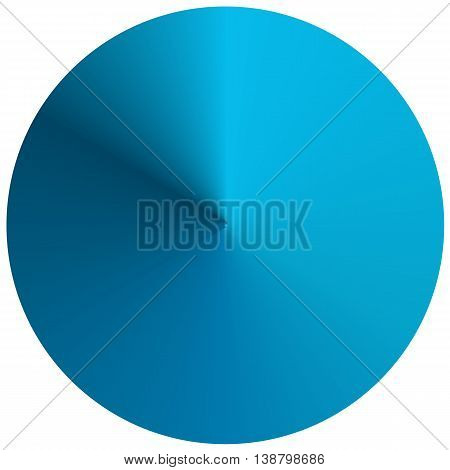Circular round gradient in shades of blue isolated on white