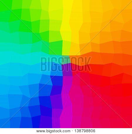 Rainbow Abstract Mosaic Low Polygon Backrgound In Spectrum, Rainbow, Colors