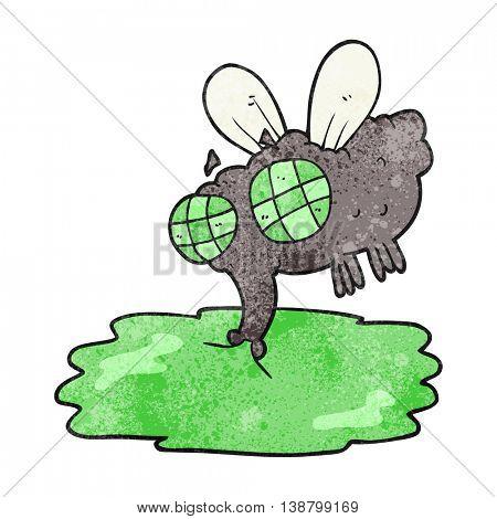freehand textured cartoon gross fly