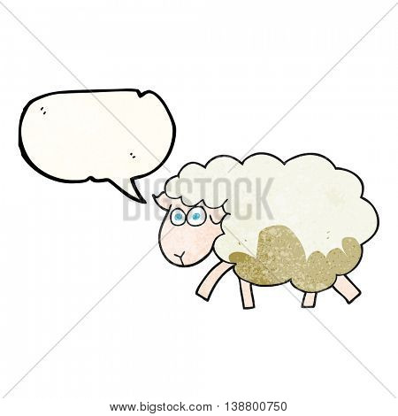 freehand speech bubble textured cartoon muddy sheep