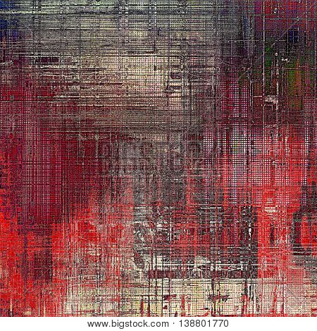 Oldest vintage background in grunge style. Ancient texture with different color patterns: gray; green; red (orange); purple (violet); pink