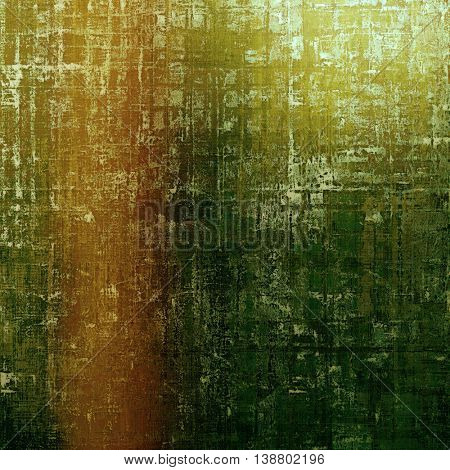 Vintage background with dirty grungy texture or overlay and different color patterns: yellow (beige); brown; gray; green; red (orange)