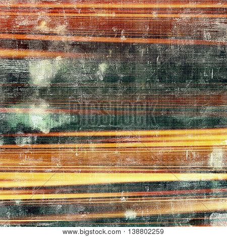 Aged vintage background with weathered texture, grunge design elements and different color patterns: yellow (beige); brown; black; green; red (orange)