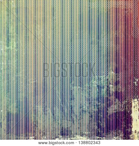 Aged vintage background with weathered texture, grunge design elements and different color patterns: yellow (beige); green; blue; purple (violet); cyan; pink