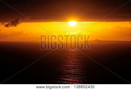 Beginning Of A Sunset