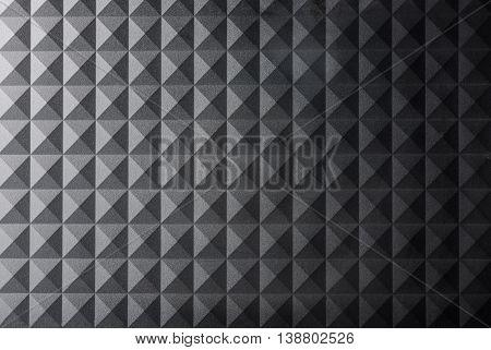 Texture black gray pyramid background  high quality studio shot