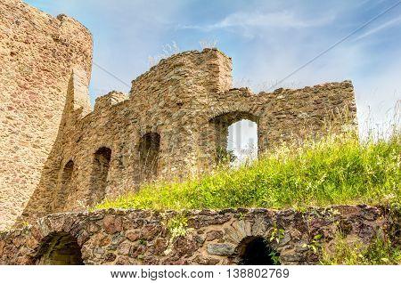 Ruined Castle In Frauenstein