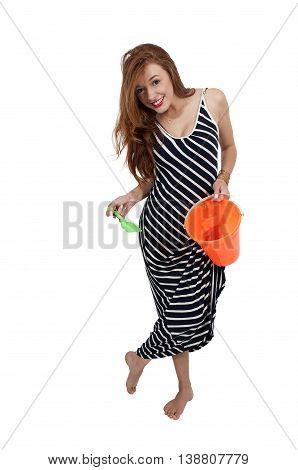 Woman With A Sand Pail