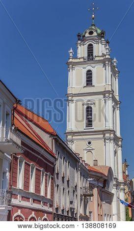 Bell tower of the St. John church in Vilnius Lithuania