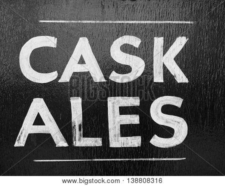 Cask Ales Sign
