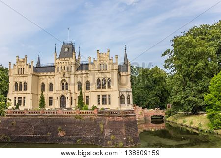 Side view of the Evenburg mansion in Leer Germany