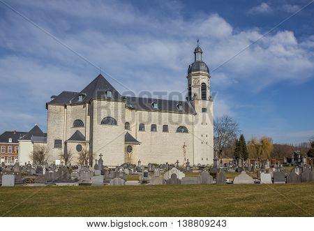 LEUVEN, BELGIUM - MARCH 7, 2015: Church of the Vlierbeek abbey in Leuven, Belgium