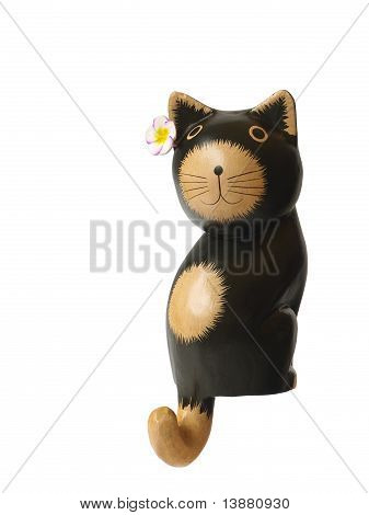 wooden black cat