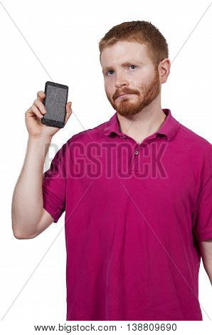 Man With Broken Phone