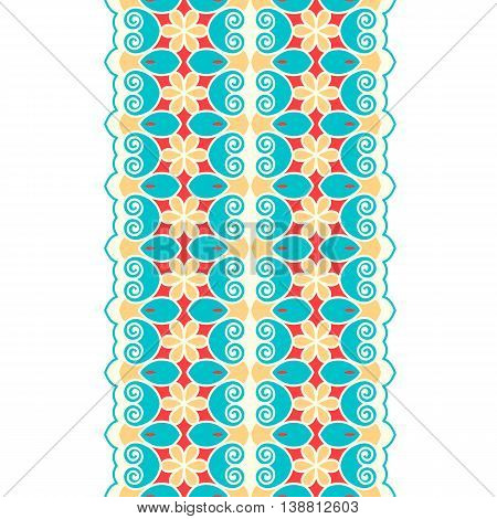 Seamless Border. Abstract Ornament.