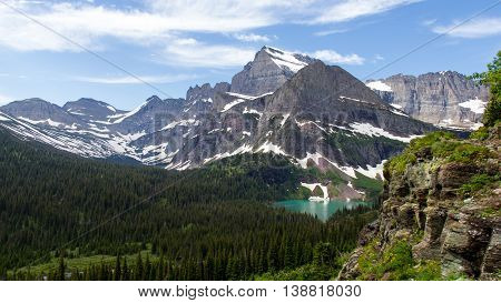 Mount Grinnell and Grinnell Lake at Many Glaciers, Glaciers National Park, Montana